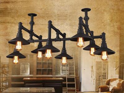 vintage rustic ceiling lamps