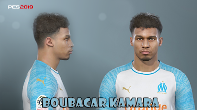 PES 2019 Faces Boubacar Kamara by Prince Hamiz