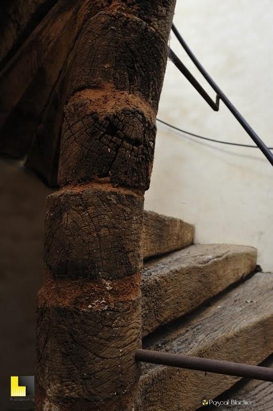 escalier en colimaçon en bois détail photo Pascal Blachier au delà du cliché