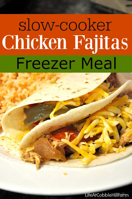 Moist and tender slow-cooker fajitas that are a quick & easy freezer meal