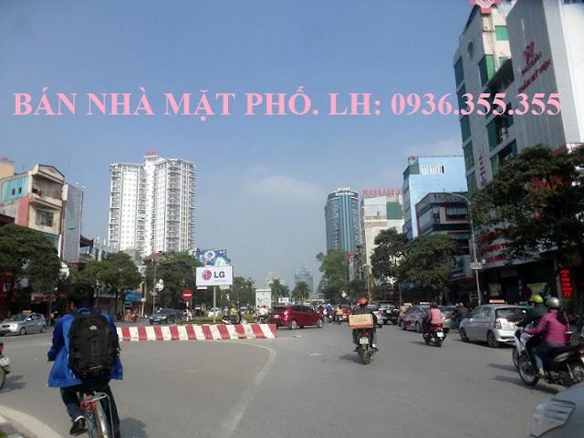 Bán nhà mặt phố Trần Duy Hưng bên số lẻ giá rẻ