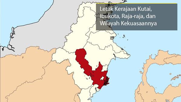 Letak Kerajaan Kutai, Ibukota, dan Peta Wilayah Kekuasaannya