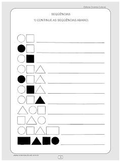 atividades de matematica educacao infantil sequencias