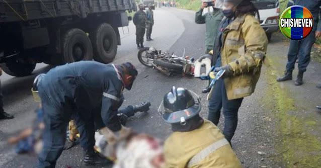 Camión con 36 militares atropelló y mató a dos motorizados en Trujillo