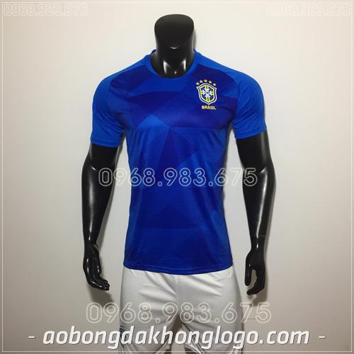 Áo Bóng Đá Đội Tuyển Brazil Xanh 2019