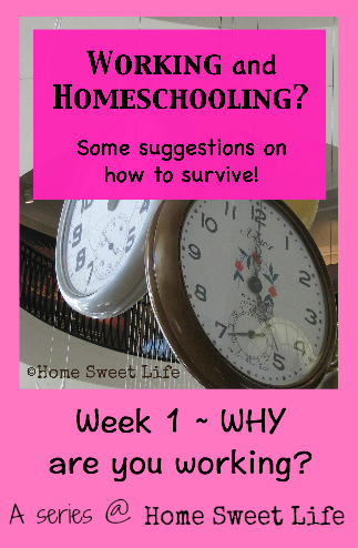 Working and homeschooling, home education
