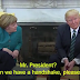 WHAT A PRESIDENT! DONALD TRUMP REFUSES TO SHAKE THE HANDS OF GERMAN CHANCELLOR, ANGELA MERKEL (VIDEO)