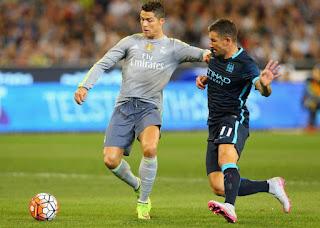 jersey terbaru musim depan Debut pertama kali Manchester City melawan Real Madrid menggunaan jersey tandang terbaru 2015/2016 di enkosa sport toko online jersey terbaru musim depan