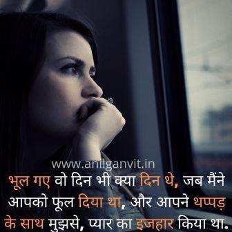 Wo Hame Bhul Gaye Shayari in Hindi