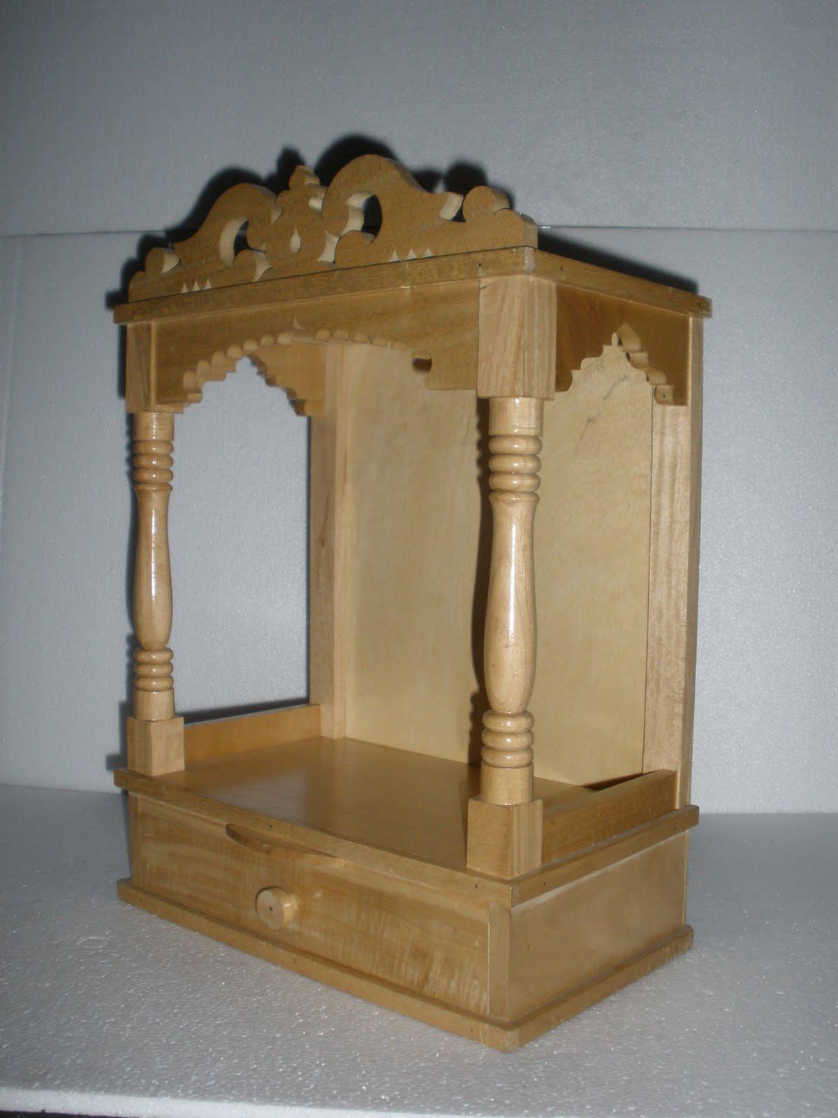 Simple Wooden Mandir Designs For Home
