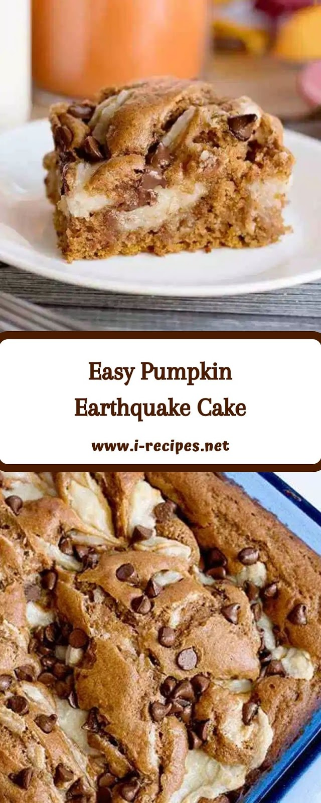 Easy Pumpkin Earthquake Cake