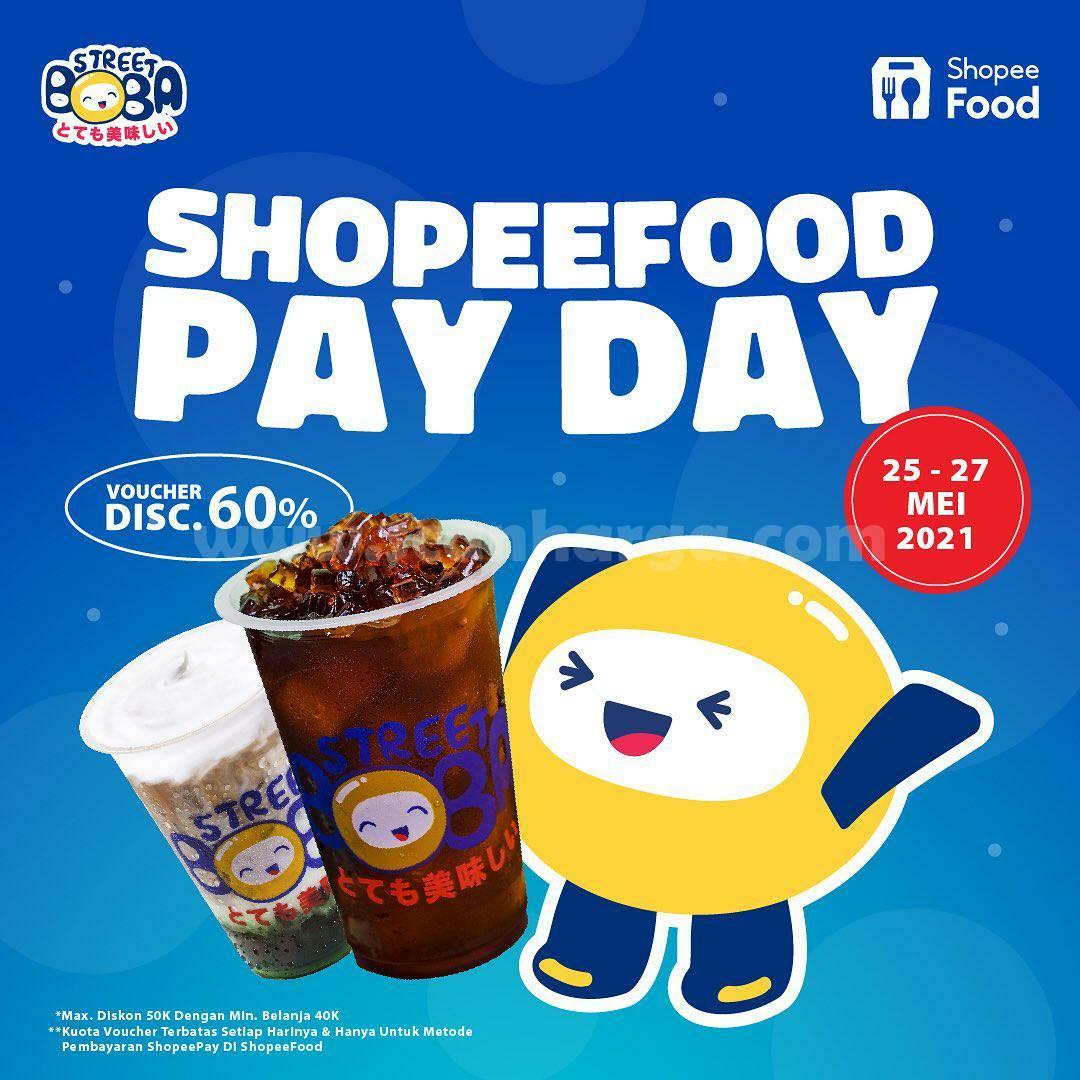 Promo Street Boba Payday Voucher Diskon 60% dengan ShopeeFood