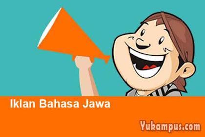 4 Contoh Iklan Bahasa Jawa Lengkap Dengan Gambar