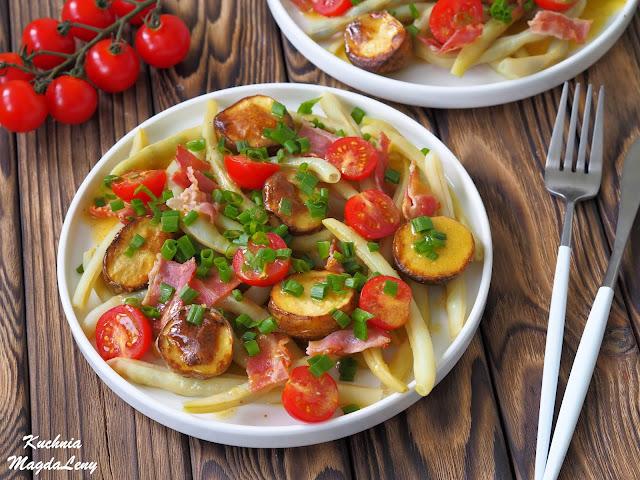 Fasolka szparagowa z młodymi ziemniakami