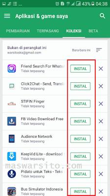 Mengembalikan aplikasi yang hilang di android