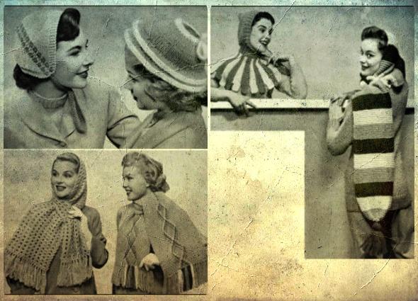 Patrón Crochet Bufanda Clásica y galería vintage