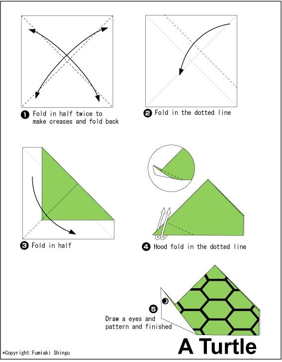 කැස්බෑවෙකු හදමු (Origami Turtle) - Your Choice Way