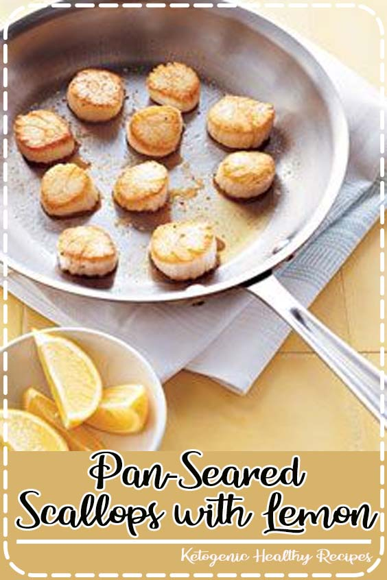 Pat scallops dry and season with salt and pepper Pan-Seared Scallops with Lemon