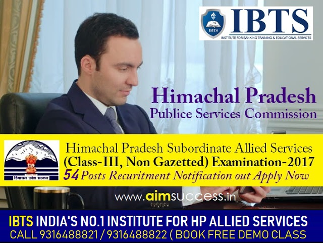 HPPSC Allied Services Exam 2019