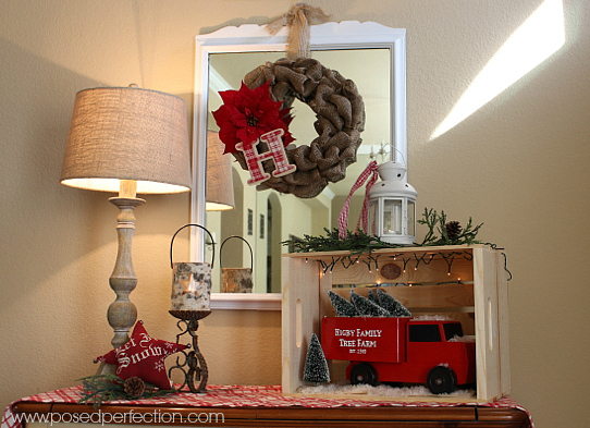 Vintage Truck Entryway Table
