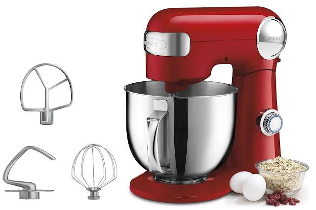 6- Cuisinart SM-50R 5.5-Quart Stand Mixer