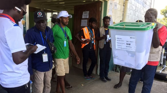 Bougainville vota a favor de su independencia en un referéndum.