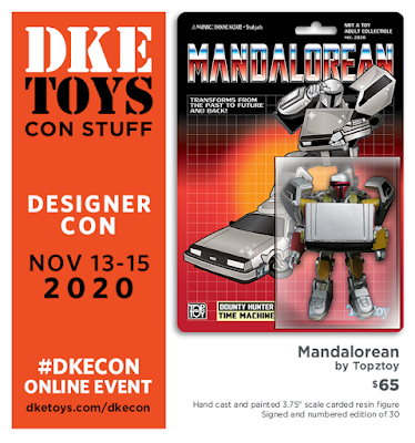 "Designer Con 2020 Exclusive Exclusive ""Mandalorean"" The Mandalorian x Back to the Future Resin Figure by Topztoy x DKE Toys"