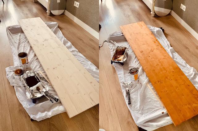 Plank beitsen aflakken