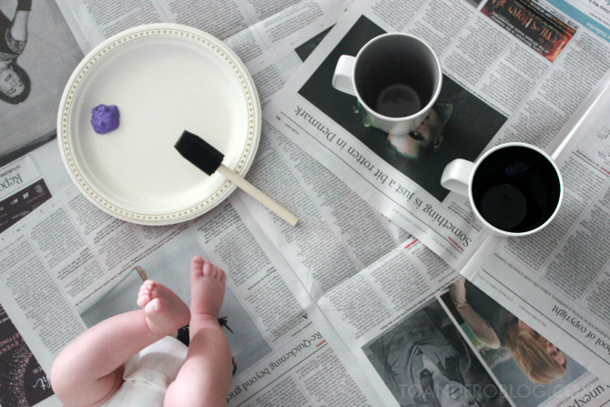 footprint mug diy