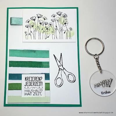 Coole Kreativkarte mit Schlüsselanhänger von Michaela Stampin' Up! www.eris-kreativwerkstatt.blogspot.de