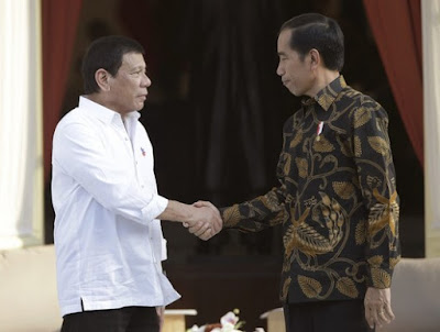 "Rodrigo Duterte (left) and Joko ""Jokowi"" Widodo"