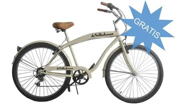 volkskrant gratis fiets - beach cruiser