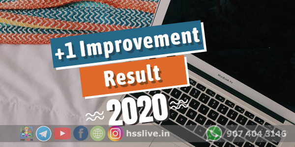 Higher Secondary First Year(Plus One) Improvement Result 2020