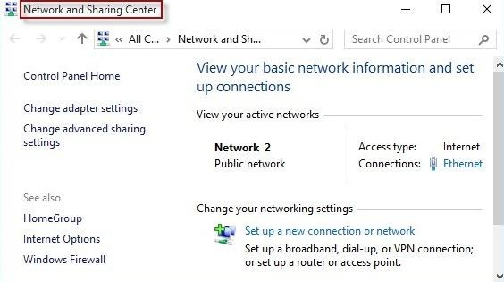 Re-configure the DNS Settings