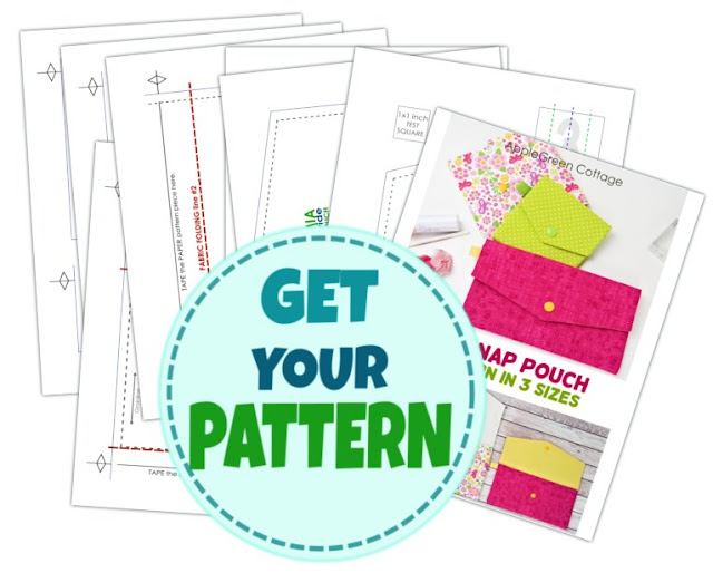 easy sewing pattern for a snap pouch