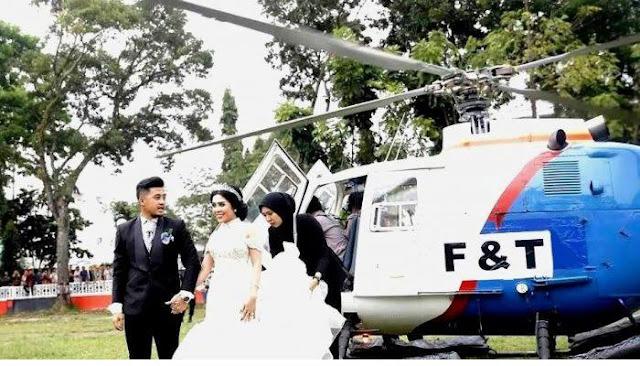 Ternyata Logo Tulisan Polri di Helikopter yang Digunakan Pengantin Ditutupi Huruf F dan T