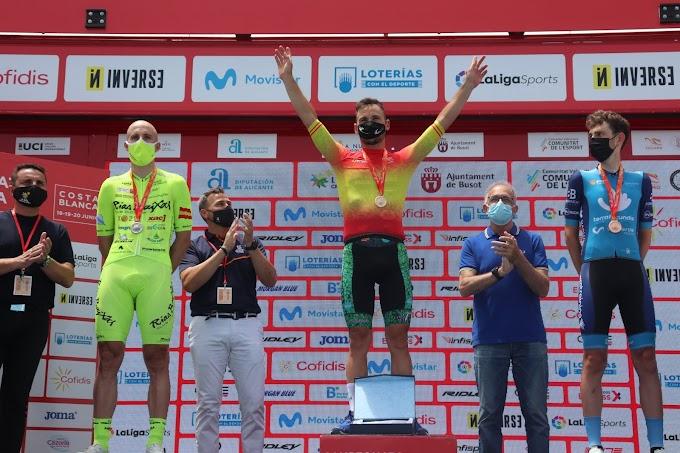 Noel Martín ganó la medalla de plata Élite en la CRI del Campeonato de España