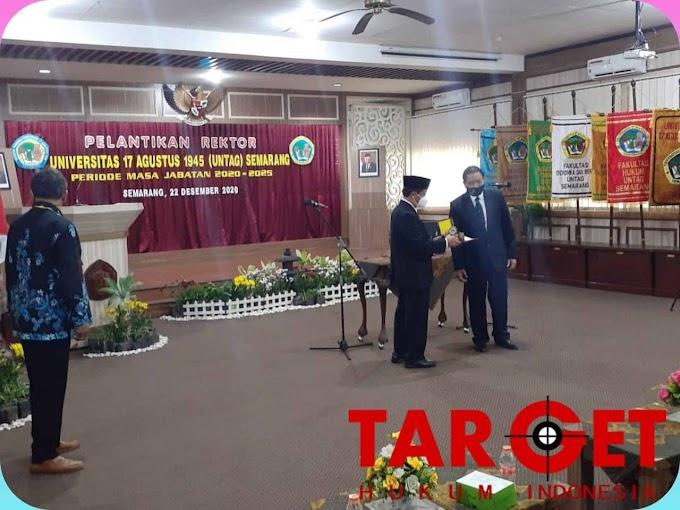 Prof. Drs. H. Suparno, MSi Dilantik dan Dikukuhkan Sebagai Rektor UNTAG Semarang Periode 2020 - 2025