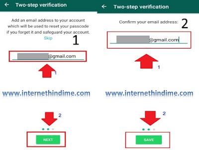 Enable Two-Step Verification Whatsapp