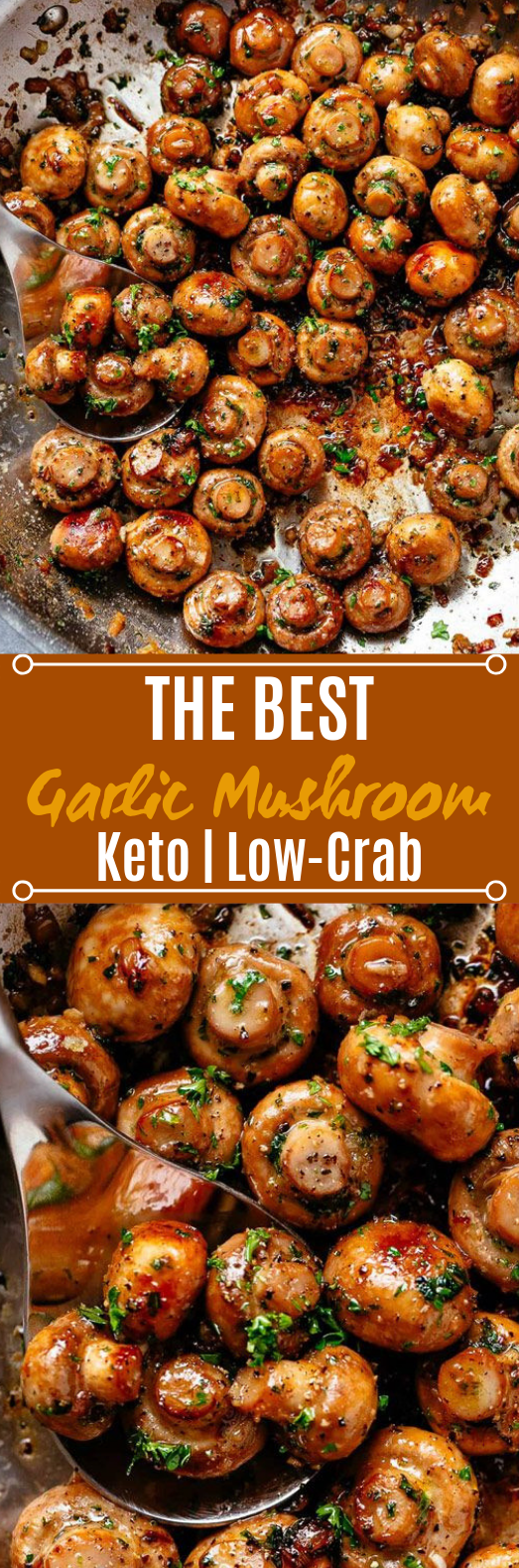 Buttery Garlic Mushrooms #sidedish #keto