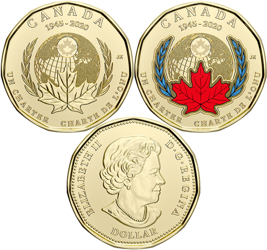 Canada 1 dollar 2020 - Charter of the United Nations