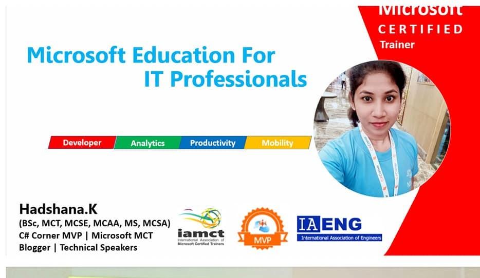 HADSHANA: Microsoft Education for IT Professionals - SlideShare