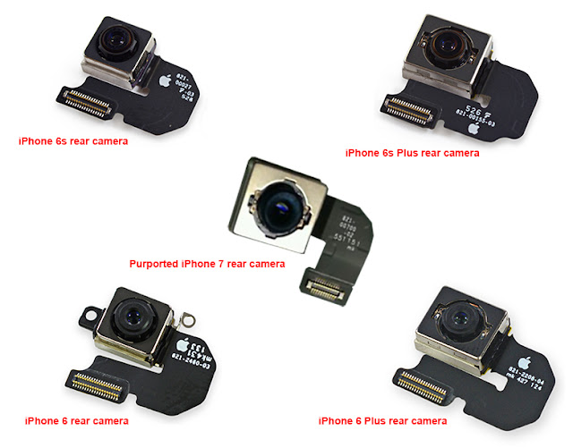 As reported by Nowhereelse, Apple's upcoming iPhone 7 camera module has been leaked which shows iSight sensor of the highly anticipated iPhone 7 which clearly differs from the iPhone 6, iPhone 6s, iPhone 6 Plus, and iPhone 6s Plus modules