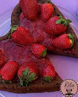 walentynkowy sernik czekoladowy