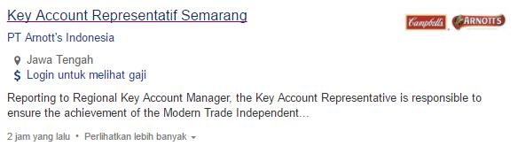 Lowongan Kerja Wonogiri Terbaru 2019 - PT Arnott's Indonesia
