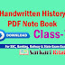 (Class 7th) Handwritten History Books in Hindi based on NCERT  in pdf