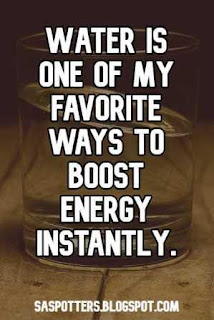 Water is one of my favorite ways to boost energy instantly.
