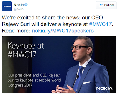 Smartphone android Nokia Bakal Hadir di MWC 2017