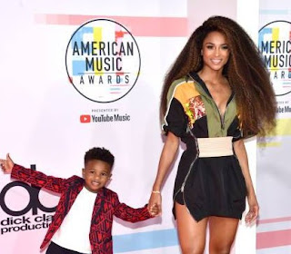 Future Zahir Wilburn with his mother Ciara