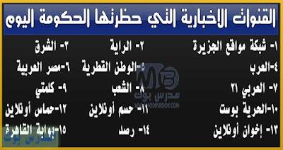 تعرف علي المواقع الاخبارية التي حجبتها الحكومة المصرية اليوم